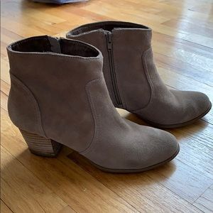 Sole Society Romy Booties - Taupe - 8/8.5